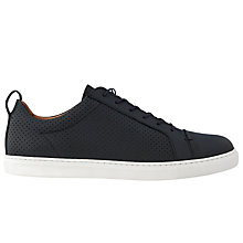 Buy Whistles Kenley Lace Up Trainers,  Navy Leather Online at johnlewis.com