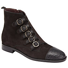 Buy Somerset by Alice Temperley Prestleigh Buckle Ankle Boots, Black Online at johnlewis.com
