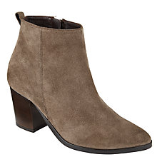 Buy Collection WEEKEND by John Lewis Pallas Block Heeled Ankle Boots, Grey Suede Online at johnlewis.com