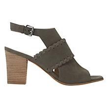 Buy Mint Velvet Quinn Slingback Buckle Block Heeled Sandals, Grey Leather Online at johnlewis.com