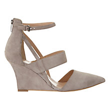 Buy Mint Velvet Cut Out Wedge Heeled Court Shoes, Mink Online at johnlewis.com