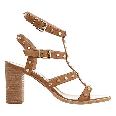 Buy Mint Velvet Billie Studded Block Heeled Sandals, Tan Online at johnlewis.com