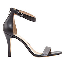 Buy Mint Velvet Fleur Stiletto Heeled Sandals, Black/Pewter Online at johnlewis.com