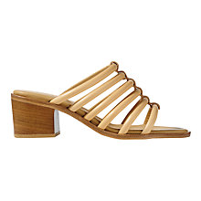 Buy Jigsaw Iris Tube Block Heeled Sandals, Nude Online at johnlewis.com