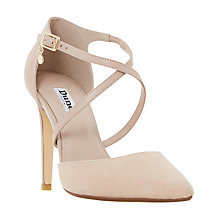 Buy Dune Connie Cross Strap Court Shoes, Blush Online at johnlewis.com