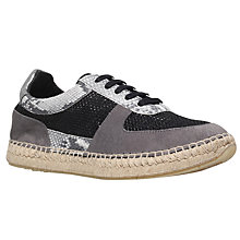 Buy Kurt Geiger Lindon Lace Up Trainers, Grey Online at johnlewis.com