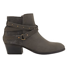 Buy Mint Velvet Sheree Cross Strap Ankle Boots, Grey Online at johnlewis.com