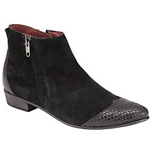 Buy Somerset by Alice Temperley Pathe Pointed Toe Ankle Boots, Black Online at johnlewis.com