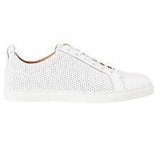 Buy Whistles Kenley Lace Up Trainers, White Online at johnlewis.com