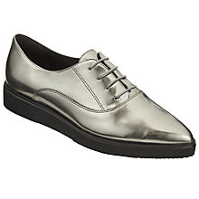 Buy Kin by John Lewis Freja Pointed Toe Brogues, Silver Online at johnlewis.com