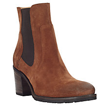 Buy John Lewis Persia Block Heeled Ankle Boots, Tan Online at johnlewis.com