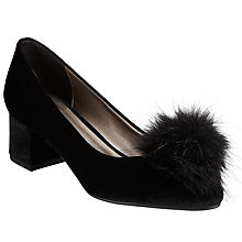 Buy John Lewis Bette Pom Court Shoes, Black Online at johnlewis.com