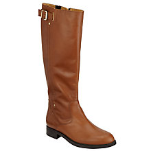 Buy John Lewis Tania Block Heel Riding Boots, Tan Leather Online at johnlewis.com