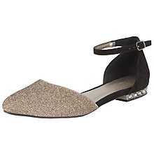 Buy John Lewis Belle Two Part Pumps, Black/Gold Online at johnlewis.com