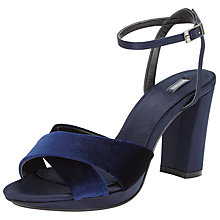 Buy John Lewis Dusty Block Heeled Sandals, Navy Online at johnlewis.com