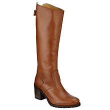 Buy John Lewis Trinity Mid Heel Long Boots, Tan Leather Online at johnlewis.com