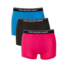Buy Polo Ralph Lauren Trunks, Pack of 3, Pink/Black/Colby Blue Online at johnlewis.com