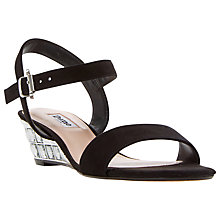 Buy Dune Monaa Wedge Heeled Sandals, Black Online at johnlewis.com