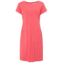 Buy White Stuff Spot Jersey Dress, Dark Strawberry Online at johnlewis.com