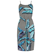 Buy Warehouse Palm Print Cami Dress, Blue Online at johnlewis.com