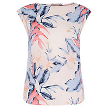 Buy Oasis Tropical Fancy T-Shirt, Multi/Pink Online at johnlewis.com