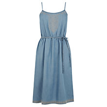 Buy Oasis Embroidered Cami Dress, Light Wash Online at johnlewis.com
