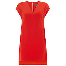 Buy Phase Eight Maya Satin Crepe Tunic Top, Orange Online at johnlewis.com