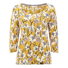 Buy White Stuff Ruthie Linen Jersey T-shirt, Nectar Yellow Online at johnlewis.com