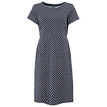 Buy White Stuff Spot Jersey Dress, Navy Online at johnlewis.com