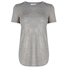Buy Oasis Rib Trim T-Shirt, Metallic Online at johnlewis.com