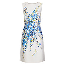 Buy Hobbs Erica Silk Wool Dress, Ivory/Multi Online at johnlewis.com