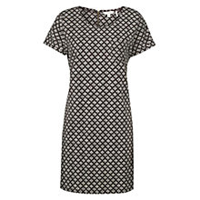 Buy Fat Face Tenby Diamond Hatch Dress, Phantom Online at johnlewis.com