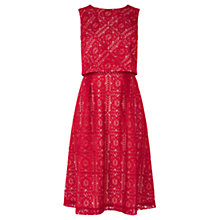 Buy Oasis Lace Midi Dress, Berry Online at johnlewis.com