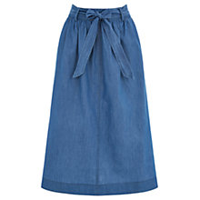 Buy Oasis Katie Chambray Skirt, Light Wash Online at johnlewis.com