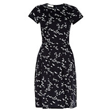 Buy Hobbs Karen Printed Cotton Dress, Navy/White Online at johnlewis.com