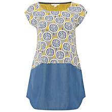 Buy White Stuff Pebble Shore Jersey Tunic, Nectar Yellow Online at johnlewis.com
