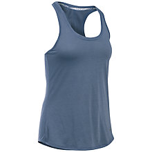 Buy Under Armour Running Streaker Tank Top, Blue/Grey Online at johnlewis.com