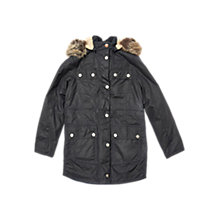 Buy Barbour Girls' Carribena Wax Jacket, Navy Online at johnlewis.com