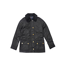 Buy Barbour Girls' Rannoch Beadnell Jacket, Navy Online at johnlewis.com