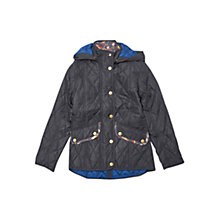 Buy Barbour Girls Impeller Quilted Jacket, Navy Online at johnlewis.com
