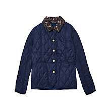 Buy Barbour Girls' Pansy Quilted Jacket, Navy Online at johnlewis.com
