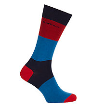 Buy Barbour Cleadon Stripe Socks, Red/Blue Online at johnlewis.com