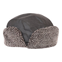 Buy Barbour Wax Harton Trapper Hat, Olive Online at johnlewis.com