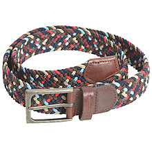 Buy Barbour Ford Woven Belt, Navy Mix Online at johnlewis.com