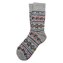 Buy Barbour Castleside Fair Isle Socks, Grey Online at johnlewis.com