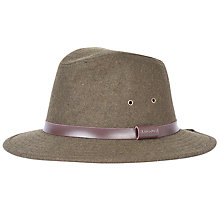 Buy Barbour Bolam Trilby Hat, Olive Online at johnlewis.com