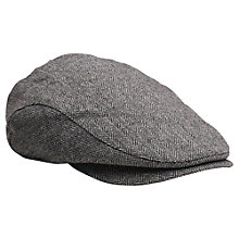 Buy Gant Herringbone Driver Flat Cap, Charcoal Melange Online at johnlewis.com