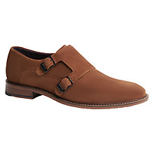Buy Ted Baker Kartor Double Monk Shoe, Tan Online at johnlewis.com