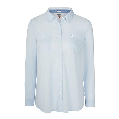 Hilfiger Denim Lightweight Cotton-Blend Shirt, Halogen Blue