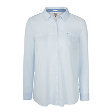 Buy Hilfiger Denim Lightweight Cotton-Blend Shirt, Halogen Blue Online at johnlewis.com
